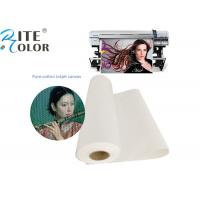 China Waterproof 100% Pure Cotton Art Canvas Inkjet Paper For Printing Media on sale