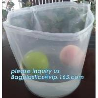 China Plastic Heavy Duty Plastic Bags Square Bottom Inner Drum Rubbish Bin Liner on sale
