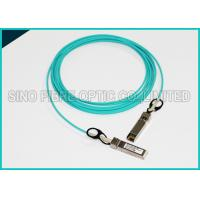 3.0mm 5 Meters Fiber Optic Multimode OM3 10G SFP+ Active Optical Aqua Cable Manufactures