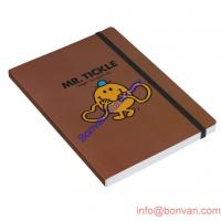 China a4 a5 a6 a7 PU leather notebook with painted edge,branded PU leather notebook on sale