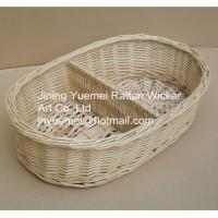 2016 wicker makeup storage basket 2 partitions Manufactures