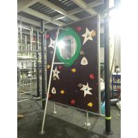 Quality QITELE Climbing Wall Kids Outdoor Gym Equipment With Aluminum / Galvanized Post Material Parts for sale