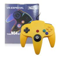 Yellow N64 Game Controller ABS Plastic Material Comfortable Long Service Life Manufactures