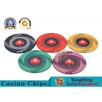 Custom 10g 14g Ceramic Poker Chips 3.3mm Thickness Environmentally Friendly Manufactures