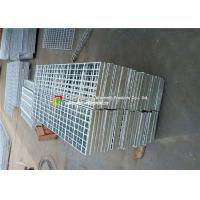 Stair Tread Serrated Steel Grating Custom Width HDG Surface Treatment Manufactures