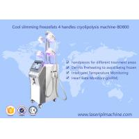 Quality 4 Handle Weight Loss Cryolipolysis Machine / Fat Freezing Vacuum Cavitation Slimming Machine for sale