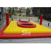 China Commercial Customized outdoor giant inflatable volleyball court with trampoline for adults interactive games on sale