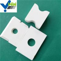 Zibo cheap high temperature resistance alumina oxide ceramic tile Manufactures