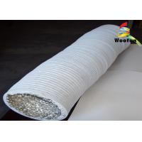 Flame Resistant 4 Inch Insulated Flexible Duct Aluminum PVC Compressible Manufactures
