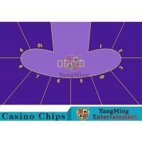 Anti - Fade Baccarat Table Layout For 10 Players In Casino Gambling Games Manufactures