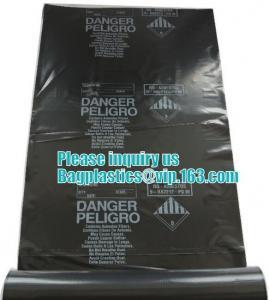 PE Asbestos Autoclavable Plastic Bags Building Waste Rubble Sacks Manufactures