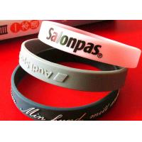Durable Engraved Rubber Bracelets , Rubber Bracelets With Words Long Life Time Manufactures