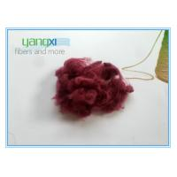 Red Dyed Staple Fiber Polyester 1.5D * 38MM With Semi Dull Luster Manufactures