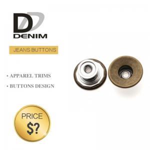 China Classic Brass Denim Metal Buttons , Denim Jeans Button Waistcoat Studs on sale
