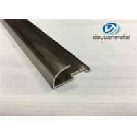 6063 T5 Round Aluminium Floor Strips Extrusion Profile With Polishing Champagne Manufactures