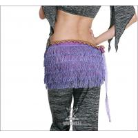 Purple Costume Belly Dancing Hip Scarves with 5 Layers Tassel for Adult / Children Manufactures
