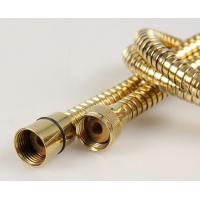 stainless steel golden plated flexible shower hose Manufactures