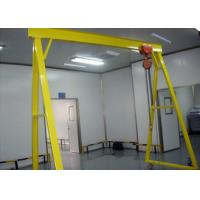 Durable Single Beam Gantry Crane Electric Hoist With Hook Cargo Lifting Electricity Power Manufactures