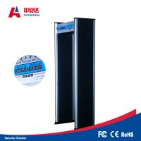 Bus Station Security Metal Detector Gate 20 Security Level With 20W Power Consumption Manufactures