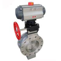 pneumatic actuator flanged butterfly valve Manufactures