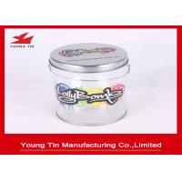 Empty Cylinder Round Gift Tins , Sweet Packaging Color Printed Circle Gift Boxes Manufactures