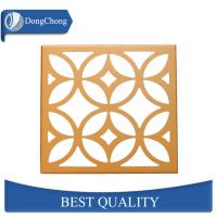 China Gold Perforated Aluminum Ceiling Panels PVDF Coated For Shopping Mall on sale
