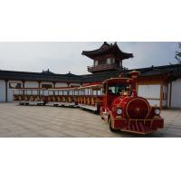 Buy cheap Electric Trackless Sightseeing Amusement Park Train Two Carriages 42 Seats from wholesalers