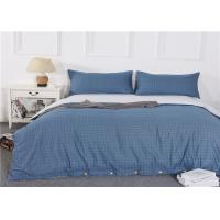 European Home Textile Cotton Bedding Sets With Printed Pattern Blue Color Manufactures