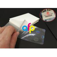 Hot Lamination Machine Suit Laminating Pouch Film , Glossy Thermal Laminating Pouches Manufactures