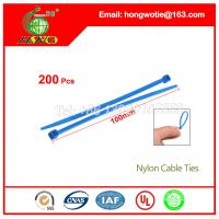 Buy cheap Malaysia colored nylon cable tie, UL 94V-2 material Self-Locking Type plastic from wholesalers