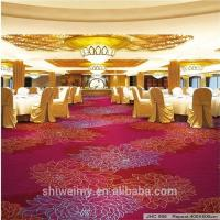 China Colorful red peony pattern wall to wall nylon carpet for banquet hall on sale