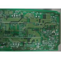 Green Single Sided 3 OZ Copper Printed Circuit Board 2 Layer Routing / Punching / V Cut Manufactures