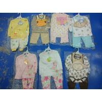 China Brand new in stock cotton baby clothes discount infant outfits stock-lot  3 piece sets spring cute clothes for 24M kids on sale