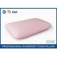 45D Bread Polyurethane Traditional Memory Foam Pillow With Washable Zippered Cover Manufactures