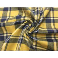 China 0.70mm Transparent Tpu Leather Compounded With Yellow Blue Grid Yarn Dyed Fabric on sale