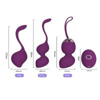 Quality Rechargeable Ben Wa Kegel Exercise Balls Silicone Wireless Remote Control Massager for sale