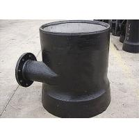 Ductile Iron fittings DN100 to DN450 Socket spigot level invert tee with flange branch Manufactures