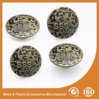 Antique Brass Jeans Buttons Metal Magnetic Nickel Free Washable Round No Hole Screw Manufactures