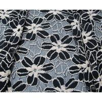 Quality Black / White Knitted Elastic Lace Fabric For Lady Garment Sunflower Pattern CY for sale
