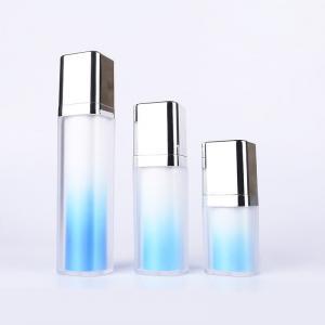 China Beautiful 15ML 30ML 50ML blue plastic airless pump bottle gradual change on sale