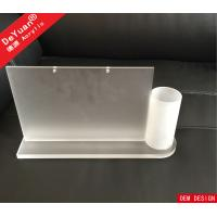 Acrylic Desktop Calendar Holder With Pen Box / Table Menu Display Holder Manufactures