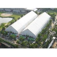 Giant Curved Clear Sports Tent Football Field Playground TFS 120km / H Wind Resistance Manufactures