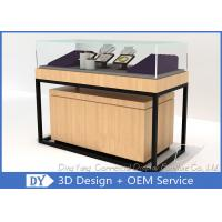 Luxury Retail Shop Wood Glass Jewelry Display Counter With Light Manufactures