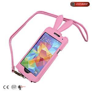 Rabbit Pattern Samsung Galaxy Phone Cases , Samsung Galaxy S5 Case Manufactures