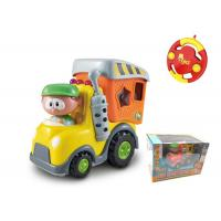 China Toddler Plastic RC Cartoon Block Cars Infant Baby Toys 18 Months Radio Control on sale