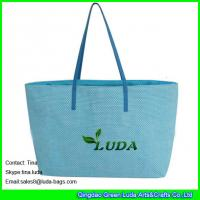 China LUDA handbags for women overnight bag paper straw lady beach tote bags on sale