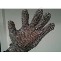 Stainless Steel Cut Resistant Gloves , Oil Resistance Steel Mesh Cutting Gloves Manufactures