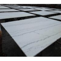 Guangxi white Marble paving slabs , 12 x 12 marble kitchen floor tiles Manufactures