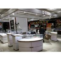 Beautiful Looks White Jewelry Showcase Kiosk For Shopping Mall Display Manufactures