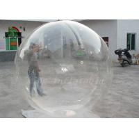Clear Transparent PVC 2m Dia Inflatable Aqua Ball / Water Ball With YKK Zipper Manufactures
